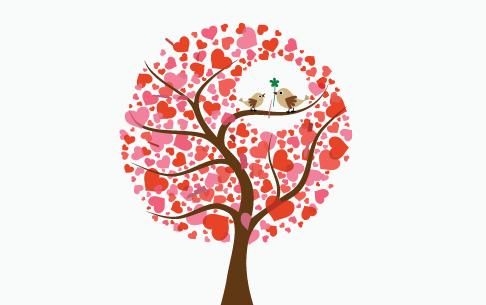 Fåglar på träd