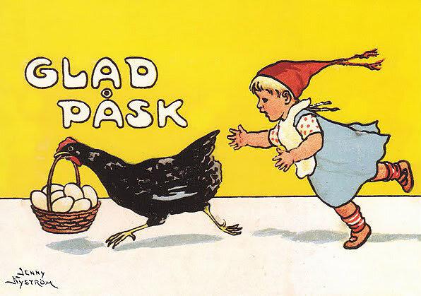 Hönan och äggen - Påskkort