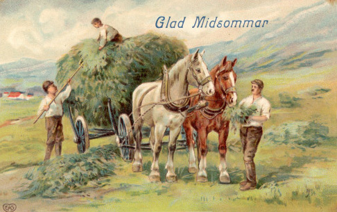Midsommar vykort